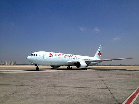 Air Canada plane on tarmak