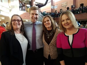 Maureen Haan, Premier Brian Gallant, Jo-Anne Mowry and Misti Denton in Saint John