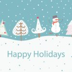 picture of snowman and trees